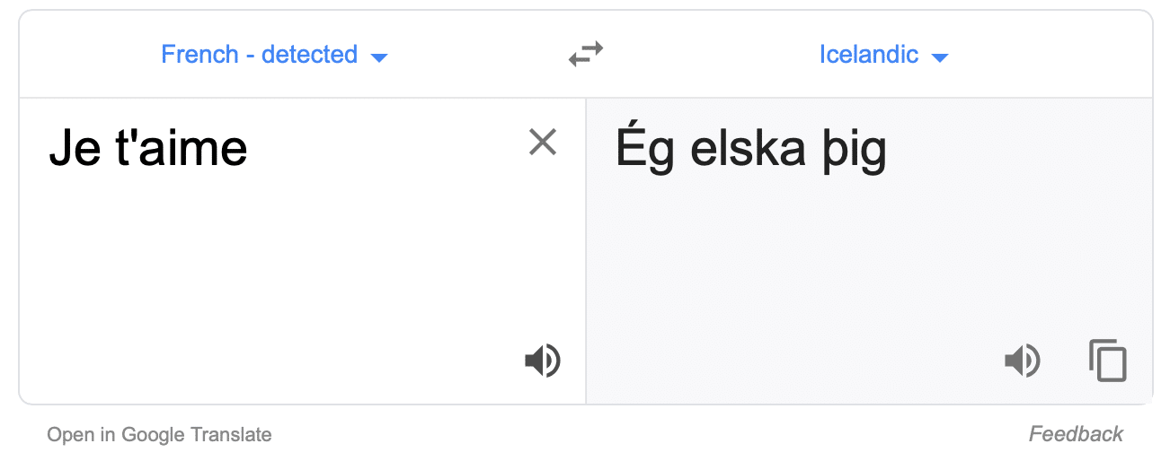 Google Translate can take French words and turn them into Icelandic (or any other combination of languages you could ever want).