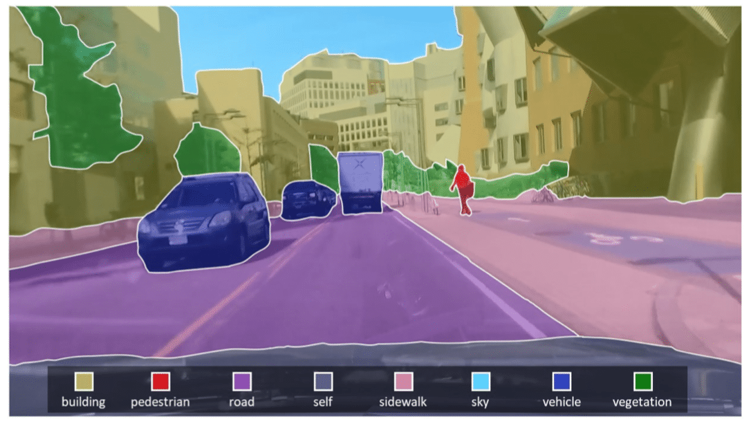 A visualization of how self-driving cars know what to plow past (and what to avoid hitting).
